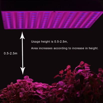 led lamp usage height